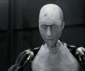 Robot vestido de Harry Potter